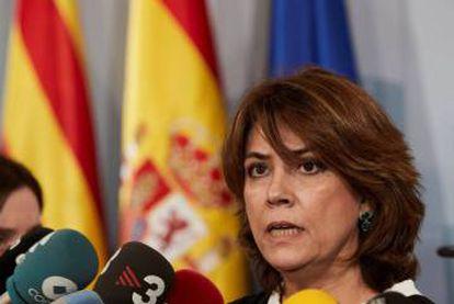 Justice Minister Dolores Delgado.