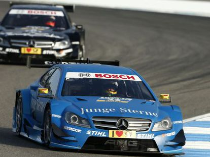 Roberto Merhi, driving for Persson Motorsport in the Junge Sterne Mercedes last year.