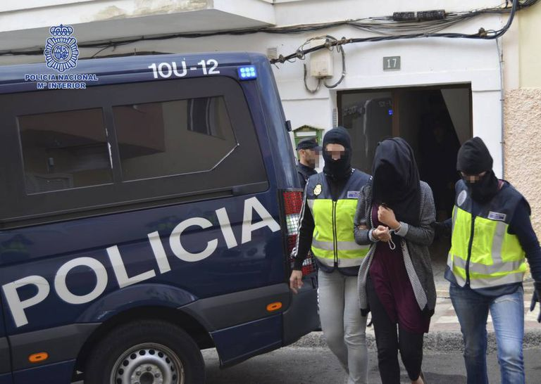 A young woman, allegedly linked to ISIS, is arrested in 2015.