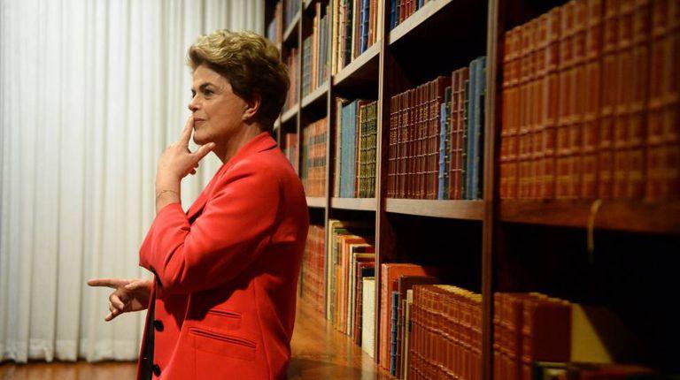 Dilma Rousseff in the Alvorada Palace in Brasilia.