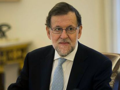 Mariano Rajoy during his last Cabinet meeting of the year.
