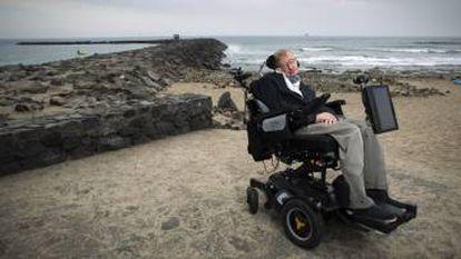 Stephen Hawking at last year's Starmus.
