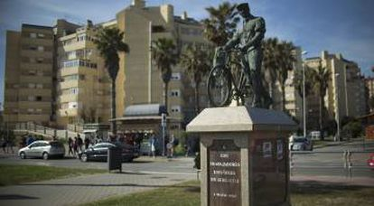 Monument to Spanish workers in Gibraltar.