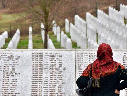 A memorial to the victims of Srebrenica.