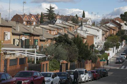 Houses in Pozuelo de Alarcón in the Madrid region.