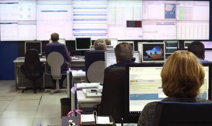 A Tax Agency control center.