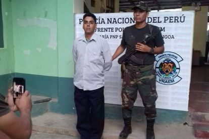 Steven Manrique at the time of his arrest in Peru.
