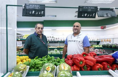 The García cousins at the Ay Madre La Fruta store on Madrid's Galileo street.