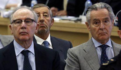 Rodrigo Rato and Miguel Blesa in court.