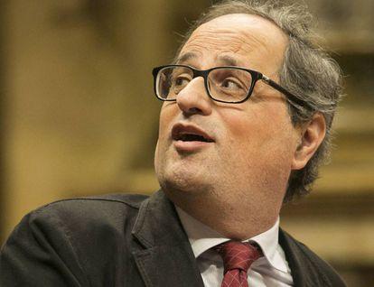 Quim Torra, last February in Parliament.