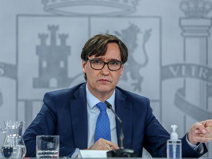 Health Minister Salvador Illa on January 4.