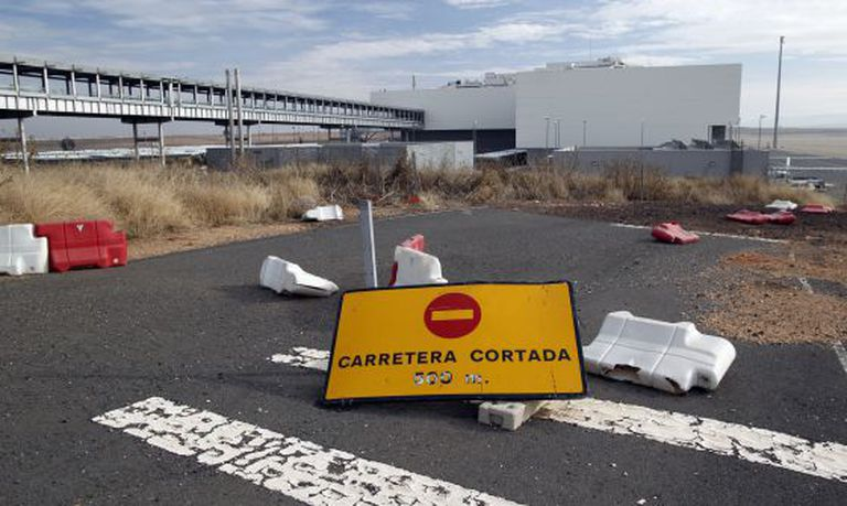 A parking area at the Ciudad Real airport.
