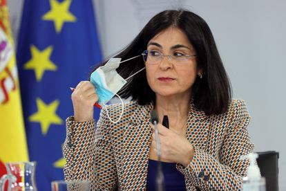 Health Minister Carolina Darias during a press conference on Wednesday.