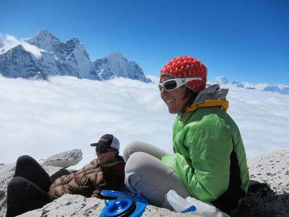 Mónica Piris at her base camp on Everest.