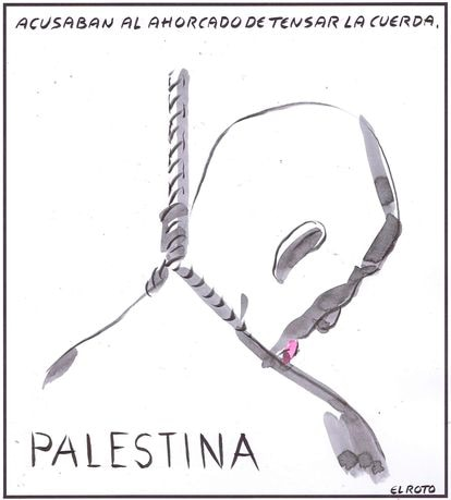 """""""Palestine: They accused the person hanging of tightening the rope."""""""