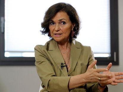 Deputy Prime Minister Carmen Calvo on Sunday.