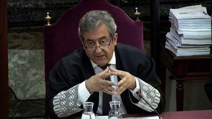 Public prosecutor Javier Zaragoza speaks in court on Tuesday.