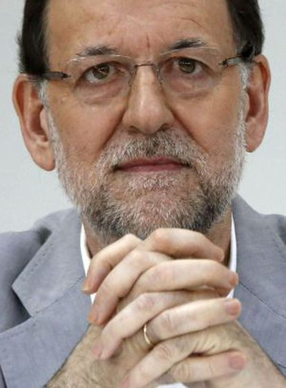 Mariano Rajoy at the FAES Foundation think-tank meeting on Sunday.