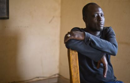 Samakoun Dembele, 32, left Mali in 2004 and has tried to reach Europe eight times.
