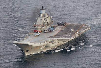 The Admiral Kuznetsov is Russia's only aircraft carrier.