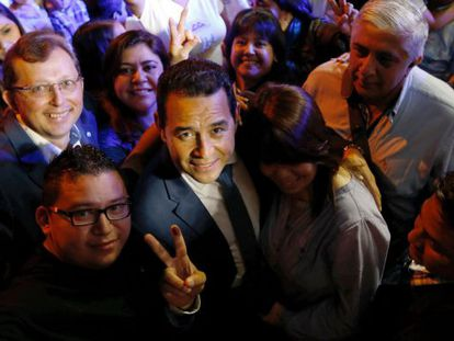 Guatemalan presidential candidate Jimmy Morales.