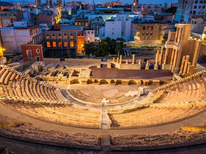 The Roman theater in Cartagena (Murcia).