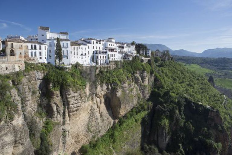 The town of Ronda in Málaga province.