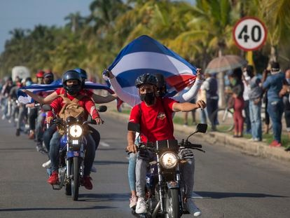 A protest in Havana against the US trade embargo.