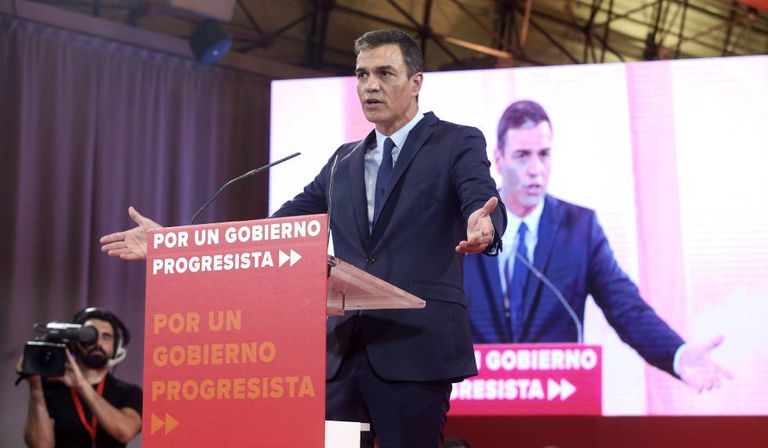 Acting Spanish PM Pedro Sánchez on Tuesday.