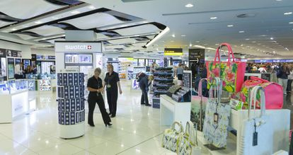 A duty-free shop at Madrid airport.