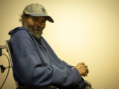Charles Thomas, 74, at his Amarillo residency during the interview.