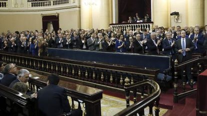 Constituent assembly in the Spanish Senate on Wednesday.