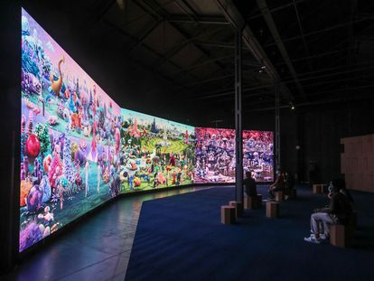 A new exhibition based on Bosch's 'The Garden of Earthly Delights' at Madrid's Matadero cultural center.