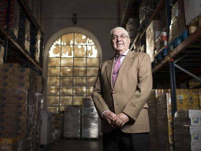 Francisco García at the Madrid Food Bank.