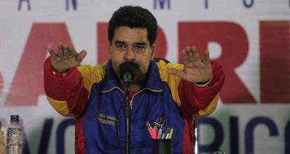 Nicolás Maduro, seen Monday in Maracay, Venezuela.