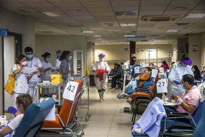 A waiting room for coronavirus patients in the emergency ward.