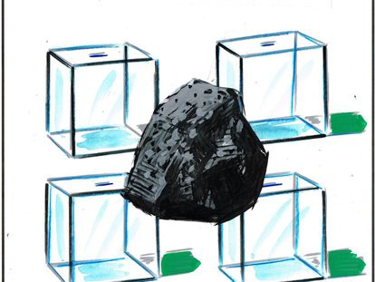 THE BALLOT BOOTHS WERE MADE OF GLASS, THE PROJECT, OF GRANITE...