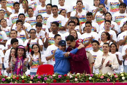 Nicolás Maduro with Nicaraguan President Daniel Ortega.