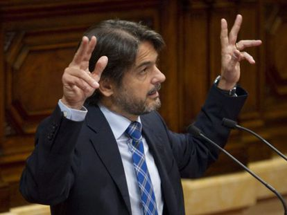 Oriol Pujol, during an appearance in the Catalan parliament on Wednesday.
