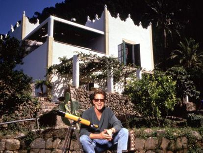 Michael Douglas pictured at his Mallorca residence.