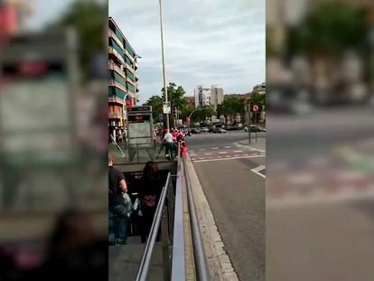 Female fans of Spanish soccer side attacked in Barcelona