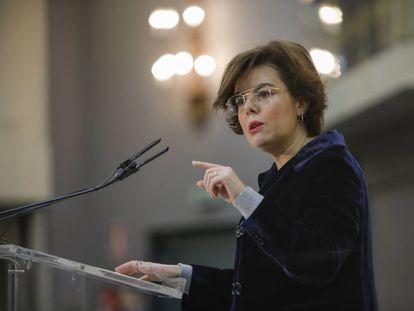 Spanish Deputy Prime Minister Soraya Sáenz de Santamaría.