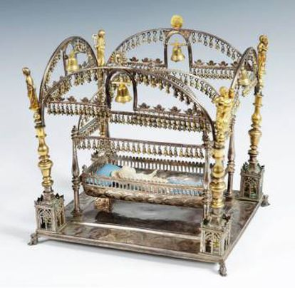 The silver crib that turned up at a Barcelona auction earlier this year.