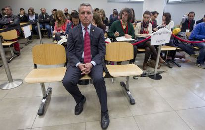José Ortega Cano during the trial on Tuesday.