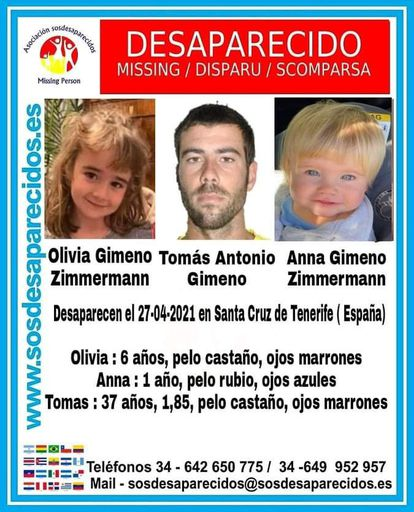 A missing persons poster issued by the organization SOS Desaparecidos.