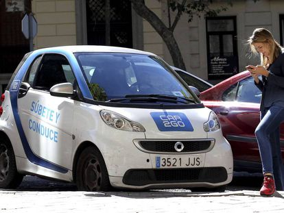 A car2go vehicle in Madrid.