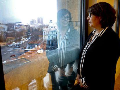 Madrid city environment chief Inés Sabanés in her office in the Palacio de Cibeles.