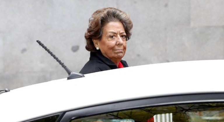 Rita Barberá arriving at the Supreme Court on Monday.