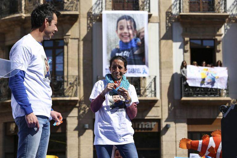 Patricia Ramírez and Ángel Cruz, the parents of eight-year-old Gabriel.