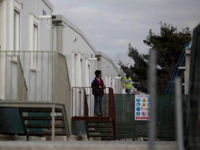 Emergency refugee center in Madrid.